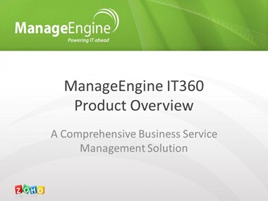 Takian.ir ManageEngineIT360ProductOverview